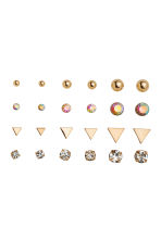 12 pairs earrings - Gold - Ladies | H&M 1