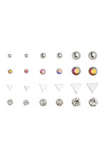 12 pairs earrings - Silver - Ladies | H&M CN 1