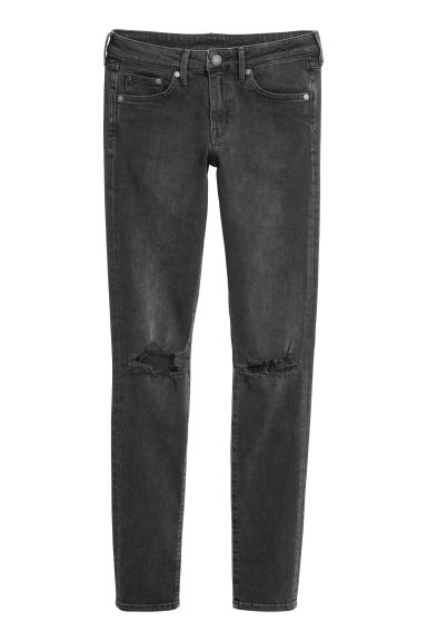 Skinny Low Jeans - Black - Ladies | H&M CN 1