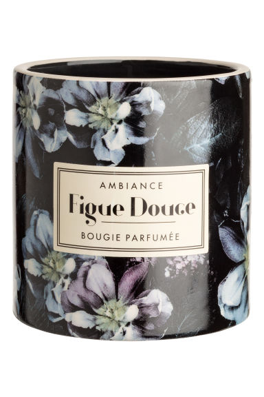 Scented candle in holder - Black/Figue Douce -  | H&M IE