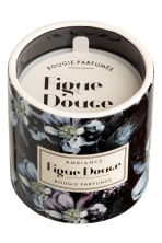 Scented candle in holder - Black/Figue Douce - Home All | H&M IE 2