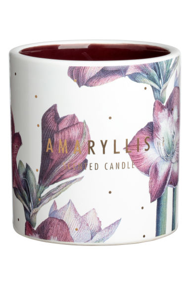 Bougie parfumée - Bordeaux/amaryllis - HOME | H&M BE 1
