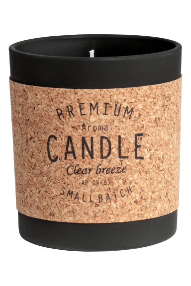 Scented candle in a glass jar - White/Fresh Hay - Home All | H&M GB 1