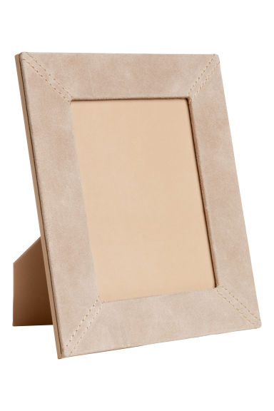 Suede photo frame - Light beige -  | H&M CN