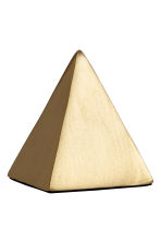 Pyramid-shaped paperweight. - Gold-coloured - Home All | H&M CN 2