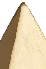 Pyramid-shaped paperweight. - Gold-coloured - Home All | H&M CN 3