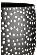 Large metal plant pot - Black/White spotted - Home All | H&M CN 3