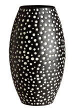 Metal vase - Black/White spotted - Home All | H&M CN 2