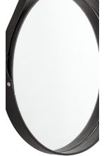 Round leather strap mirror - Black - Home All | H&M CN 4