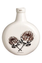 Round vase with a motif - White/Flowers - Home All | H&M IE 1