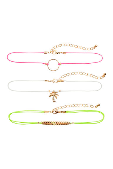 3-pack chokers - Neon - Ladies | H&M