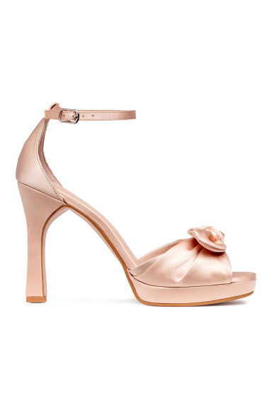Bow-front sandals - Light beige -  | H&M