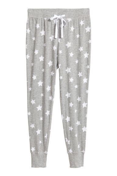 Pyjama bottoms - Grey/Stars - Ladies | H&M