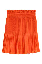 Pleated skirt - Orange - Ladies | H&M CN 2
