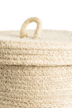 Small braided jute basket - Natural white - Home All | H&M CA 3