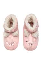 Soft slippers - Light pink - Kids | H&M CN 2