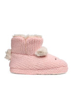 Soft slippers - Light pink - Kids | H&M CN 1