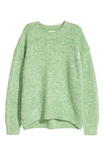 Textured-knit jumper - Light green marl - Ladies | H&M IE 2