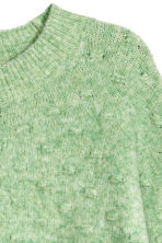 Textured-knit jumper - Light green marl - Ladies | H&M IE 3
