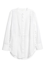 Blouse with pin-tucks - White - Ladies | H&M CN 2