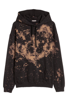 Bleached hooded top