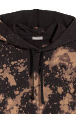 Bleached hooded top - Black/Acid - Men | H&M CN 3
