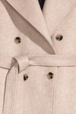 Double-breasted coat - Light beige - Ladies | H&M 2