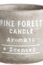 Candle in a concrete holder - Light grey/Pine forest - Home All | H&M GB 3