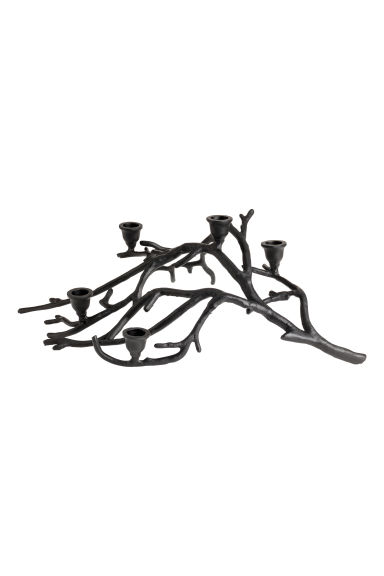 Bougeoir en forme de branche - Noir - Home All | H&M CA 1