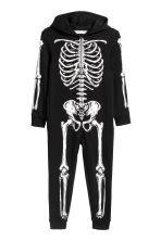 Sweatshirt all-in-one suit - Black/Skeleton -  | H&M CN 2