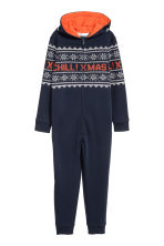 Sweatoverall - Donkerblauw/dessin - KINDEREN | H&M NL 2