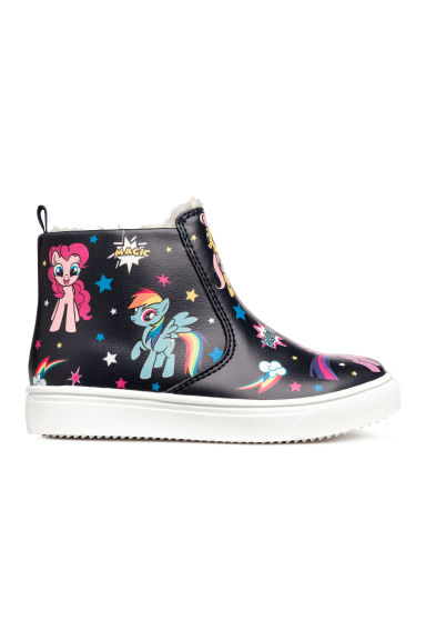 Pile-lined Ankle Boots - Dark blue/My Little Pony - Kids | H&M CA