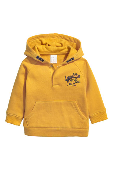 Sweat-shirt à capuche - Jaune moutarde -  | H&M BE