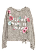 Fine-knit jumper - Khaki green/Marled - Kids | H&M CN 2