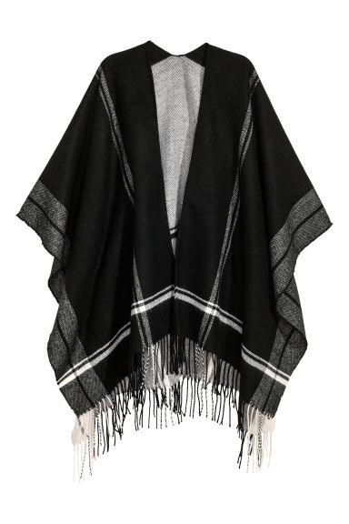 Fringed poncho - Black - Ladies | H&M