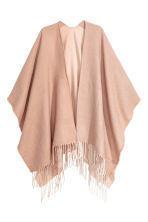 Fringed poncho - Light beige - Ladies | H&M 1