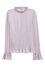 Crinkled frilled blouse - Heather purple - Ladies | H&M 2