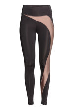 Sports tights - Black/Nougat - Ladies | H&M 2