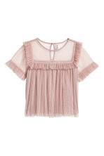 Top tulle con bordo a volant - Rosa antico - DONNA | H&M IT 2