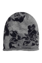 Fine-knit hat - Grey/Patterned - Ladies | H&M 1