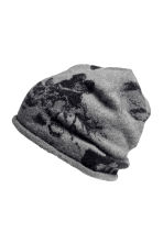 Fine-knit hat - Grey/Patterned - Ladies | H&M CN 2