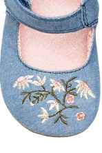 Sandals with embroidery - Denim blue -  | H&M 4