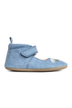 Sandals with embroidery - Denim blue -  | H&M 2
