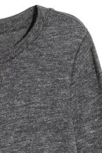 Long-sleeved jersey top - Dark grey marl - Ladies | H&M 2