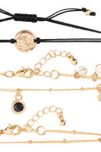 5-pack bracelets - Gold/Black - Ladies | H&M 3