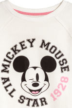 Printed sweatshirt - White/Mickey Mouse - Kids | H&M CN 3