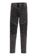 緊身褲 - Dark grey washed out -  | H&M 2