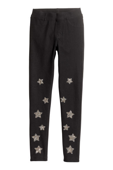 Treggings - Nero/stelle glitter -  | H&M IT 1