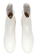 Leather ankle boots - White - Ladies | H&M CN 2
