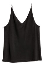V-neck strappy top - Black - Ladies | H&M GB 2